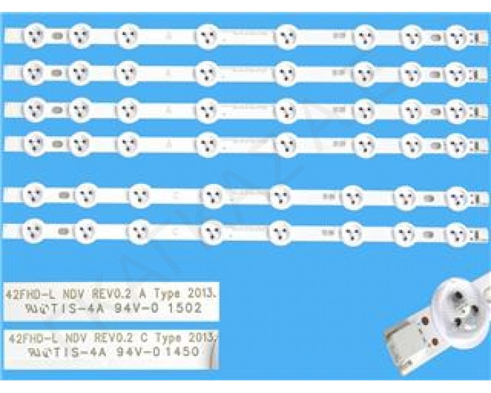 23283025 LED BARS  42FHD-L  TIS-4A  94V-0 1502 8 LED 37,5cm